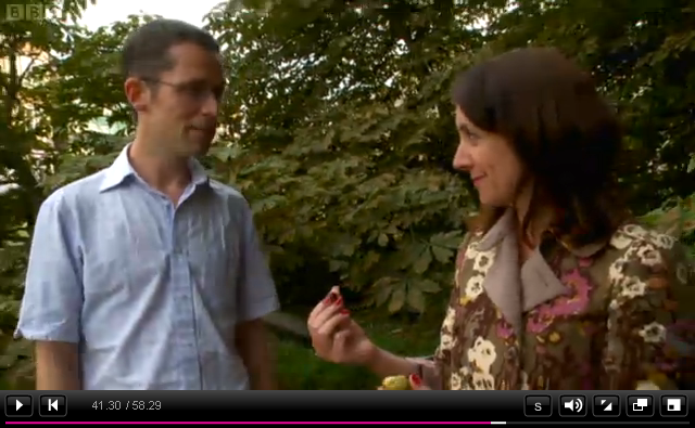 screen shot from the NatureLocator/LeafWatch appearance on the One Show